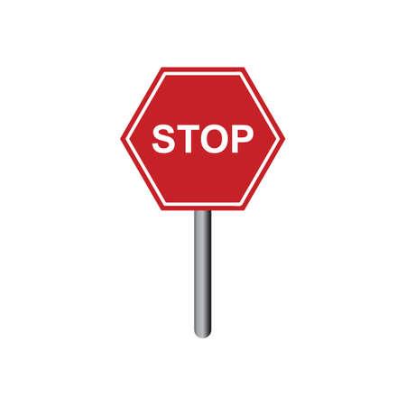 the motorists: Stop sign Illustration