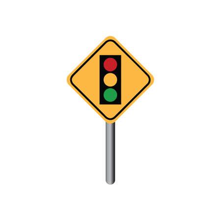 slow lane: Traffic signal ahead sign