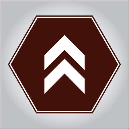 upwards: Arrow pointing upwards sign