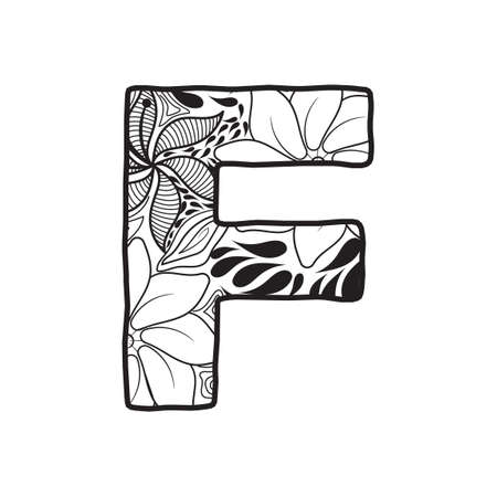 letter f: Letter F Illustration