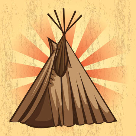 teepee: Teepee Illustration