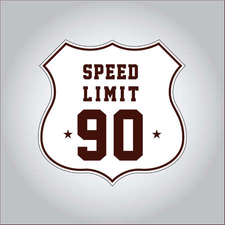 mph: Speed limit 90 sign Illustration