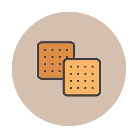 basic food: Crackers Illustration