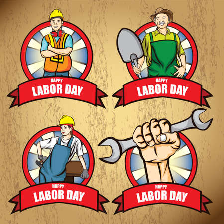 oldman: Collection of happy labor day posters