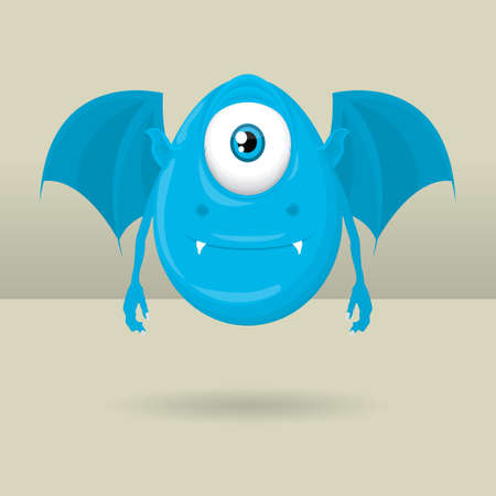 one eyed: Cute one eyed monster Illustration