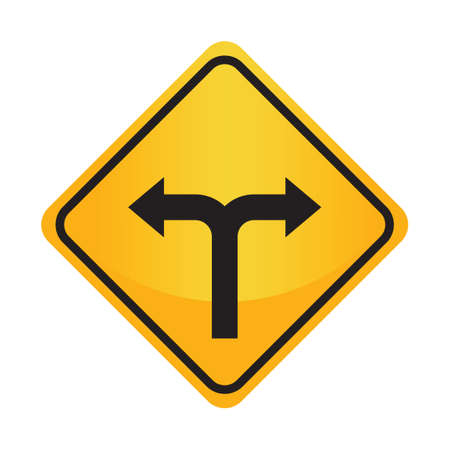 the motorists: Left or right arrow auxiliary sign Illustration