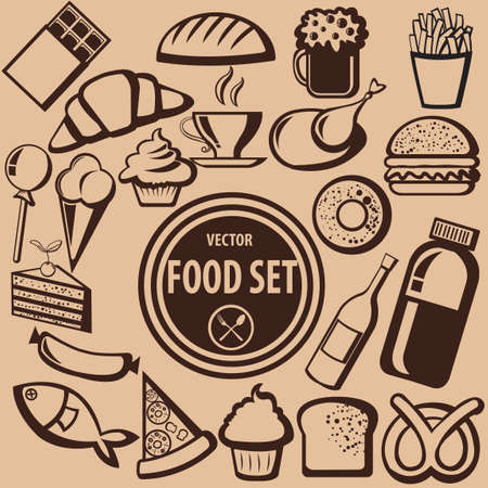 food icons: Collection of food icons