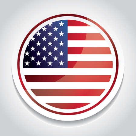 flag: Badge of usa flag
