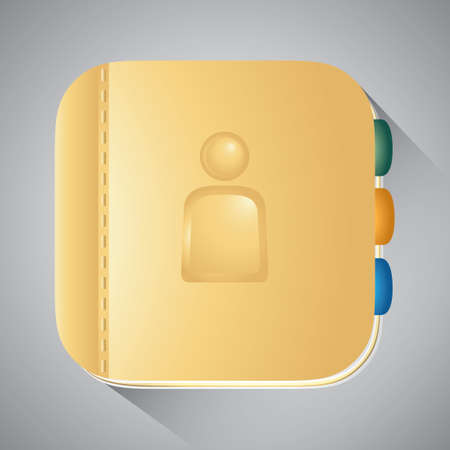 mobilephones: Address book icon