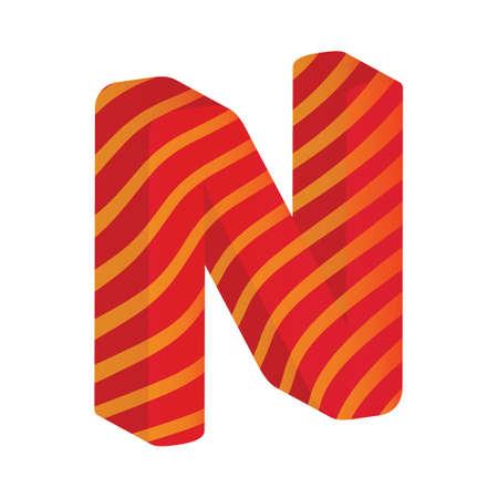 consonant: Alphabet N Illustration