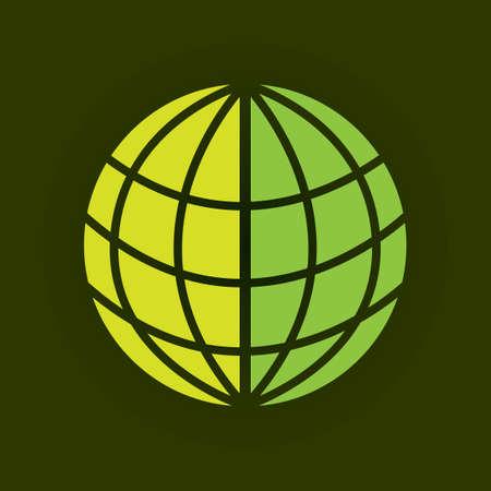 green globe: Green globe icon