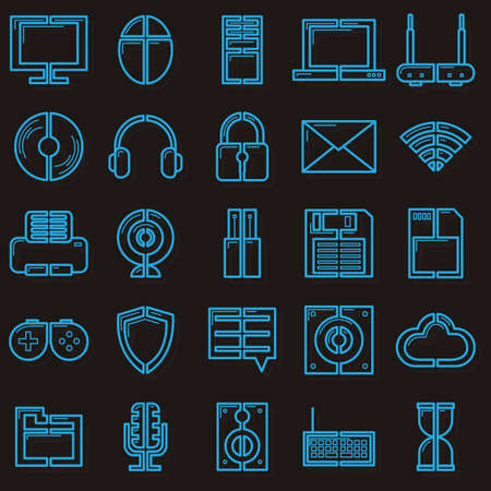 computer icons: Collection of computer icons Illustration
