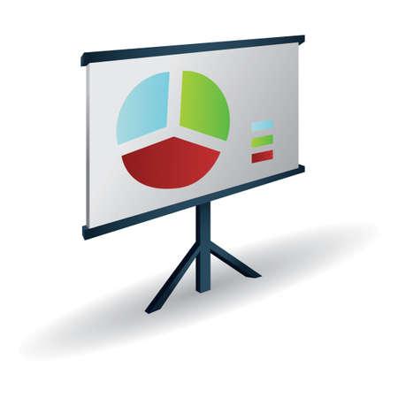 statistical: Statistical graph presentation Illustration