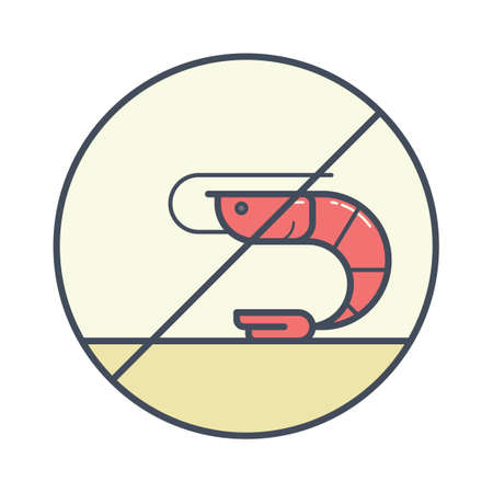 avoid: Shellfish-free icon Illustration