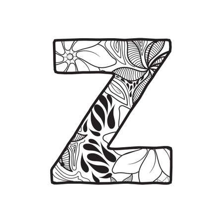 buchstabe z: Letter Z Illustration