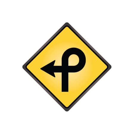 slow lane: Pretzel loop sign