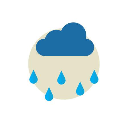 raindrops: Cloud with rain
