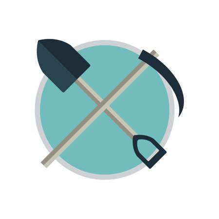 scythe: Shovel and scythe Illustration