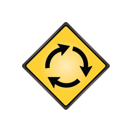 slow lane: Roundabout sign