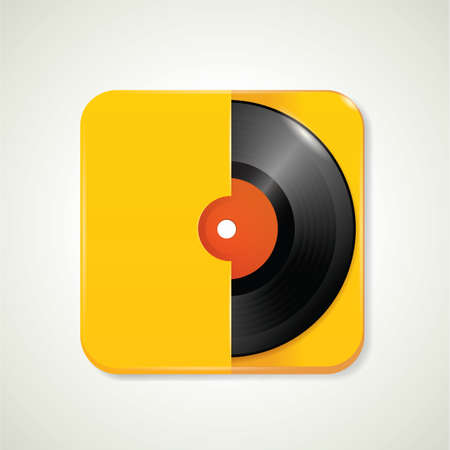 record cover: Gramophone record in cover Illustration