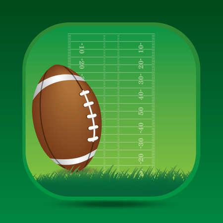 touchdown: American football field