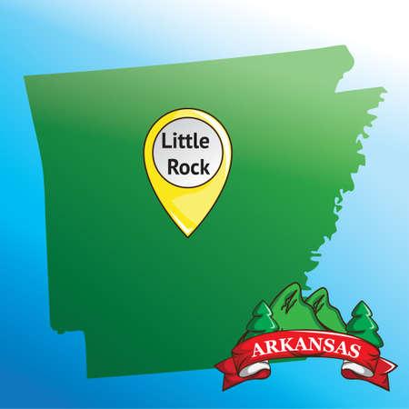 albero pino: Mappa di Arkansas State con pino