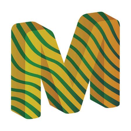 consonant: Alphabet M Illustration