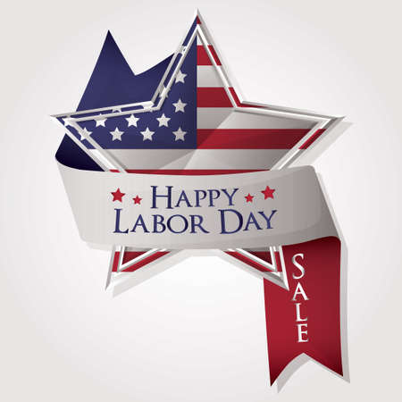 Happy labor day ribbon