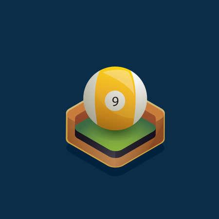 billiard ball: Isometric billiard ball