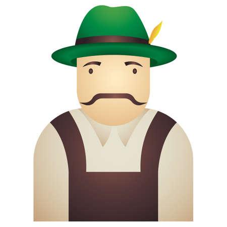 bavarian: Bavarian man Illustration