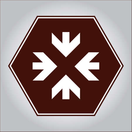 inwards: Arrows pointing inwards sign