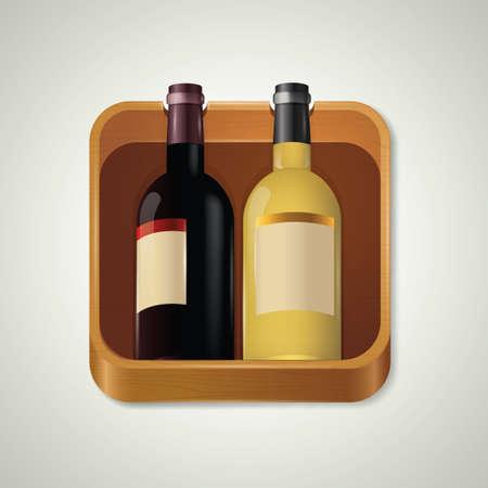 booze: Wine bottles Illustration
