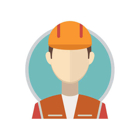 hard hat icon: Construction worker Illustration