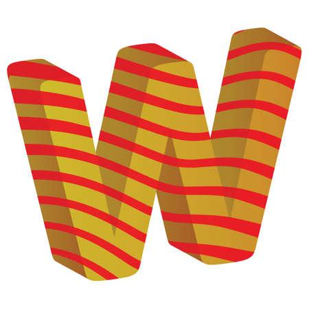 consonant: Alphabet W Illustration