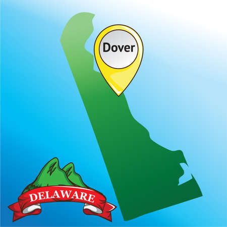 dover: Map of delaware state with mountain