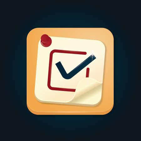sticky note: Sticky note with pushpin