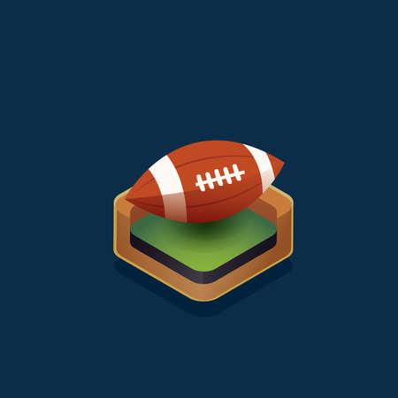 ballon de rugby: Isom�trique ballon de rugby Illustration