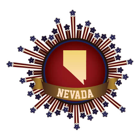 nevada: Nevada state button with banner