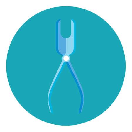forceps: Dental forceps Illustration