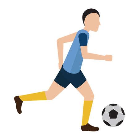 to soccer: Soccer player Illustration