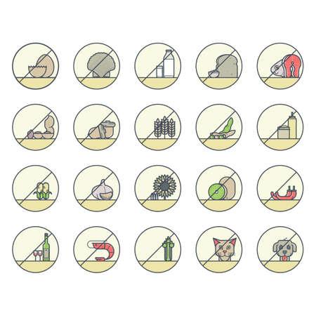 garlic bread: Collection of no allergen food labels