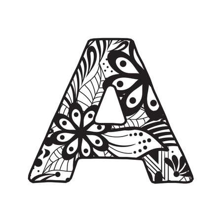 vowel: Letter A Illustration