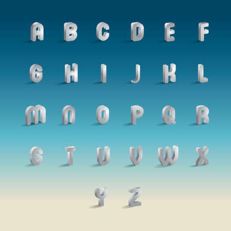 Set of alphabets Vectores