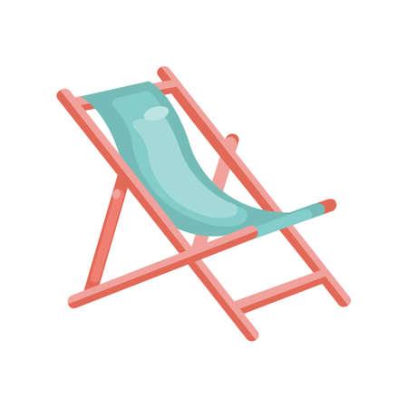 foldable: Beach foldable chair Illustration