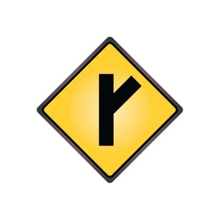acute angle: Calle lateral en un signo �ngulo agudo
