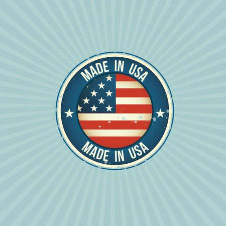 em: Feito nos EUA rótulo