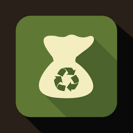 sack: Sack with recycle symbol