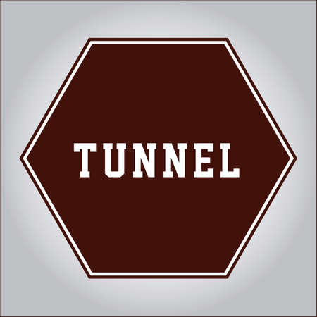 highway tunnels: Tunnel sign