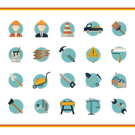hand trowels: Collection of construction icons