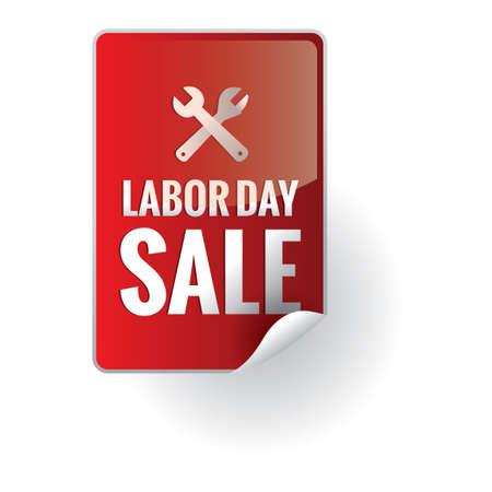 sales person: Labor day sale sticker